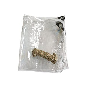 Petrhot Bâche Transparente avec Oeillets, 0.55mm Couverture PVC Végétale Claire en Plastique de Verre Imperméable à la Pluie pour Meuble Jardin Balcon(Largeur2m) La Taille Peut Personnalis