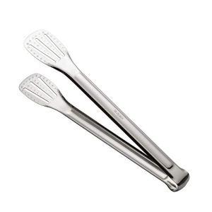 Pince à nourriture en acier inoxydable pinces à pain à salade de viande antidérapantes pour barbecue cuisine ustensiles de cuisson(L,silver)
