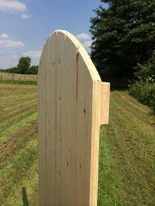 Portail de jardin en séquoia massif en forme de T et G avec rebord et renfort fabriqué à la main au Royaume-Uni (0,6 m 1,2 m)