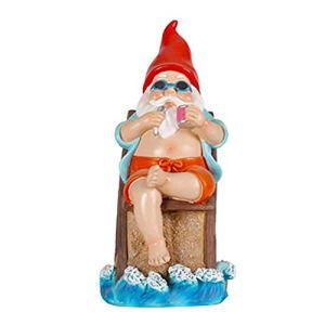 Pppby Statue de jardin nain – Décoration de jardin – Mini décoration artistique coquine pour pelouse, terrasse, jardin, cour, maison, bureau, cour, piscine