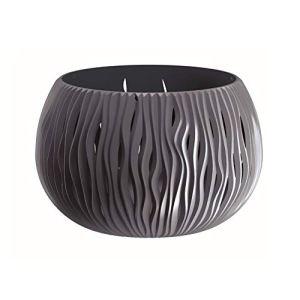 Prosperplast Bowl Sandy en Plastique avec réservoir de Couleur Anthracite, 30 (Hauteur) x 47,8 (Profondeur) cm