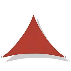 QI-CHE-YI Voile Parasol, Pare-Soleil imperméable à 95% Protection UV Protection par Pare-Soleil Garden Beach à baldaquin de Jardin, 6 * 6 * 6m,Deep Red