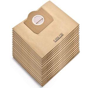Rebirthcare Lot de 15 sacs d'aspirateur pour Karcher 6.959-130.0 pour WD 3 MV 3 Sacs filtrants en papier de rechange pour aspirateur Wet & Dry