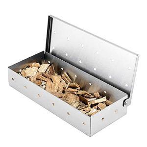Rehomy Boîte à fumage en acier inoxydable pour barbecue et copeaux de bois