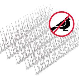 riijk Système Anti-Oiseaux, Anti-Pigeons et Anti-Corbeaux – 15 Mètres – Pré-assemblé – Acier Inoxydable