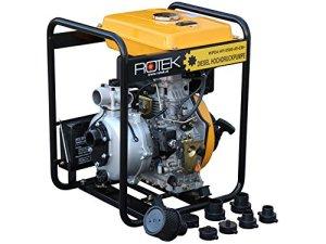 Rotek Pompe à moteur diesel 4 temps
