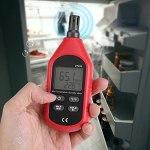 Shipenophy Puce Basse énergie Thermomètre à Longue durée de Vie Hygromètre Température de l'air Humidimètre Thermomètre numérique Hygromètre Poids léger pour réfrigérateur de Jardin de Cave