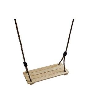 Siège en Bois Swing Swing Swing Swing Corde Swing Swing Swing siège de siège en Bois Poli Quatre Panneaux Robuste Swing Style Rural (roulement de Charge 60 kg)