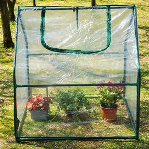 SKYLANTERN Serre de Jardin en Plastique – Mini Serre Jardin avec Fermeture à Zip – Abri pour Plante et Culture (Dimensions : 92 x 92 x 92 cm)