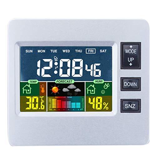 tellaLuna H306 Station météo numérique avec écran couleur LCD pour prévisions météo avec capteur intérieur, moniteur de température et d'humidité