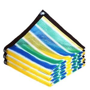 Upupto Coloré Épaissir Sunshade Filet, Balcon Sécurité Clôture Filet Terrable Terrasse Canopée Voile Beau Soleil Sun Shade Filets,5 * 5m