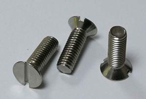 Vis à tête fraisée avec fente DIN 963, matériau en acier inoxydable V2A/Aisi 304 (10 pièces) (M5 x 20 mm).
