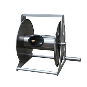 Voiture en acier inoxydable de tuyau en métal, outil d'irrigation de jardinage de support de tuyau de jardin de lavage de voiture