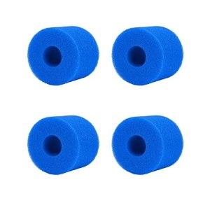 WWYX Lot de 4 éponges en mousse pour filtre de piscine de type S1, réutilisables, lavables