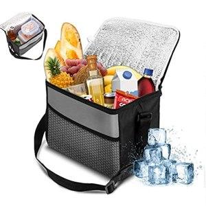 WZQZW Sac à déjeuner isotherme étanche 10 l Sac à déjeuner Sac à bandoulière portable Sac de pique-nique Sac de pique-nique Convient pour barbecue, voyage, camping