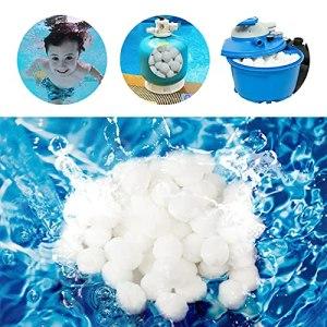 Yisscen Boule Filtrante, 400g Balles de Filtration, Boule Filtrante Pouvant Remplacer Le Sable Filtrant, Balles Filtrantes Réutilisables, Utilisé dans Les Piscines, Filtration de l'eau