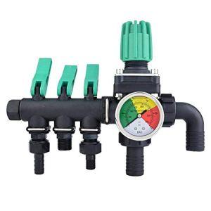 YUQIYU Valve de contrôle du pulvérisateur agricole, 3 Répartiteur eau Vanne d'arrêt 9 x 3,9 x 6.3in Taille de l'agriculture et de l'élevage des animaux de l'aquaculture