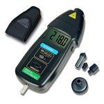 ZLININ Tachymètre de contact 3 en 1 avec écran LCD numérique, large plage de mesure et compteur de vitesse DT2236B