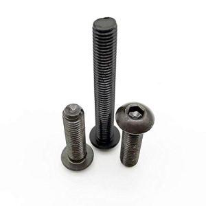 10 / M2 M2.5 M3 50pcs M4 M5 M6 304 A2-70 en acier inoxydable de qualité noire 10,9 ISO7380 Hexagone à six pans creux tête Bouton Allen Boulon à vis ( Couleur : 10.9 class steel , Taille : 12mm )