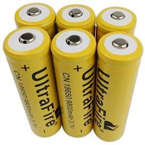 18650 Batterie Rechargeable Li-ion 6 X 3.7 V 18650 piles rechargeables 9800 mAh pour lampe de poche torche LED RC batterie Rechargeable