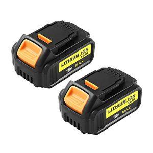 2 Pack Hochstern 18V 5.0Ah MAX XR Batterie Remplacement pour Dewalt 18V DCB205 DCB184 DCB200 DCB182 DCB180 DCB181 DCB182 Compatible avec DCS355N-XJ DCW210N-XJ DCM563PB-XJ DCG405N