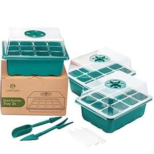 3 Mini Serre Interieur   Kit de Germination pour 36 Plantes   Bac Semis   Évents Réglables pour Humidité Idéale   Plateau pour Plantes Débutantes et Légumes   Mini Serre pour Semis
