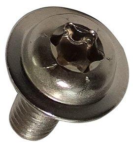 Aerzetix: 20 boulons vis à tête bombée avec collerette M4x10mm Acier Inoxydable A2 Empreinte T20 Torx C17544