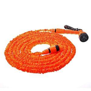 AGiao Facile à Installer 25FT-250ft Jardin Tuyau Extensible Magique Flexible Tuyau d'eau en Plastique Tuyaux UE Tuyau Tuyau d'arrosage avec Airbrush pour Durable (Color : Orange, Size : 25ft)