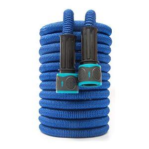 AGiao Facile à Installer Extensible Jardin d'eau Tuyau d'arrosage Magique Tuyau Flexible Haute Pression Lavage de Voiture Tuyau d'arrosage Tuyau d'arrosage Durable (Color : Blue, Size : 25ft 7.5m)