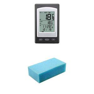 Amuzocity Thermomètre à Capteur Flottant d'eau de Piscine Numérique sans Fil Spa Extérieur