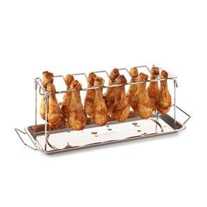 Barbecook Support de cuisson Barbecue pour cuisse de poulet, Acier Inox, 27,5 x 18,5 cm