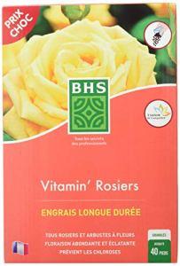 BHS EVRO1 Engrais Vitamin' Rosiers | 1,5 kg | Soit 40 Pieds | Croissance Régulière Et Harmonieuse Ainsi Qu'Une Floraison Soutenue Et Parfumée, Fabriqué en France