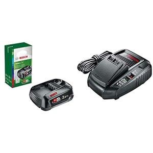 Bosch Home and Garden 1600A005B0 Batterie 18 V – 2,5 Ah – Noir & Chargeur Rapide AL 1830 CV pour Batterie Lithium-ION – Bosch, AL 1830 CV Accessoires pour Outils sans-Fil 14,4V / 18V