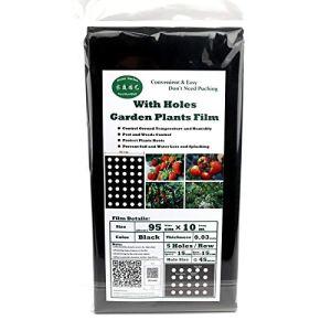 Bureze Lot de 5 Films de Protection pour Plantes agricoles 5 Trous 95 cm x 10 m