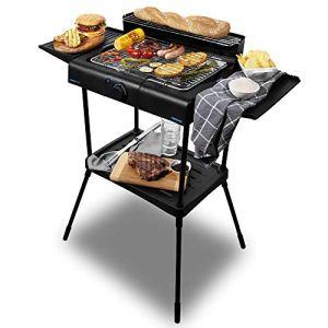 Cecotec PerfectSteak 4250 Stand. 2400 W, grille en acier inoxydable, supports avec grande surface, 3 niveaux de hauteur et panneau coupe-vent, plateau amovible