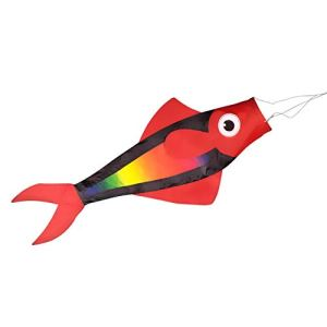 CIM Manche à air Poisson Fisch Windsack – Rainbow – Dimensions: 91 x 38 x 12 cm – avec clip et émerillon à roulement à billes – résiste aux intempéries