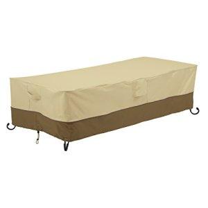 Classic Accessories 55–784–051501–00Véranda Maintien Bare Couverture pour Table rectangulaire Feu–152cm Largeur, Kaki, 152x 71,12x 38,1cm