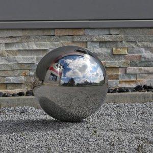 CLGarden Acier Brillant Poli Boule 30cm Balle Flottante Inoxydable décoration de Jardin Bille 30 cm