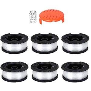 Coupe Spool ligne Cap Tondeuse à gazon cordes en nylon Compatible avec Black Decker AF-100-3ZP 8PCS pour ood Ouvertures & Reaming