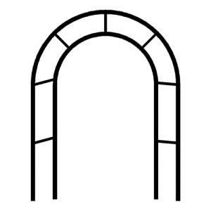 DunShan Arche Jardin Support pour Plante Jardin Trois Dimensions Métal Bois Diamètre Tuyau Audacieux Conception Renforcée Noir Blanc Vert