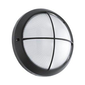 Eglo Lampe 93264Bateau, aluminium, GX53, noir