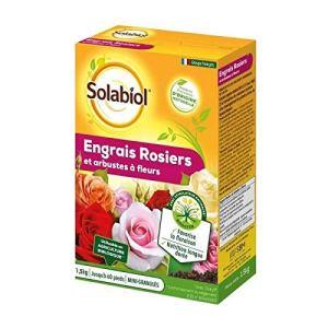 Engrais rosiers et arbustes à fleurs 1,5Kg Solabiol