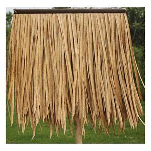 Feuille de palmier Simulation de tuiles de chaume Artificial PE Hair Grass Flame Retardant Plastic Straw Farmhouse Gazebo Thatch Roof Decoration Fake Thatch Roof 50x50cm/pcs,(Colour:Yellow A,Size:2pcs