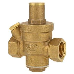 FTVOGUE Filetage de Vanne de Régulateur de Pression d'eau Réglable en Laiton DN15 1/2
