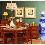 GAOYINMEI Table Basse Vase Vase Vases Céramique Plancher Permanent Grand Classique for Fleurs à Sec Décoration Art Accueil Ménage Salon Chambre Hôtel Bureau Bleu 33 X 120 cm Décorations