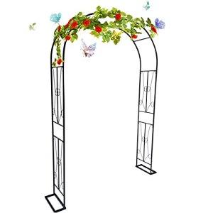 Gnova Arche à rosiers et Plantes grimpantes,19mm Diamètre Tuteur Colonne de Jardin décoration,Arceau pergola Treillis de Mariage