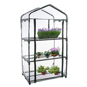 GonGYi Plante Portable Verre Greenhouse PVC Tier Garden Tier Mini Couverture de Serre de Plante ménagère (sans Support de Fer), 126 cm