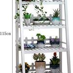 HBY Support en Bois Massif Usine Fleur Rack intérieur Tablette d'angle avec 4 Lignes étagères Rack (Size : 60cm)