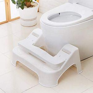 HJK Portable Tabouret physiologique de Toilettes, réglable en Hauteur Elicliv Anti dérapant Tabouret physiologique pour Toilettes, Ajuster l'angle d'excrétion