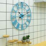 Horloge Murale de Jardin extérieur, Horloge à Chiffres Romains horloges de Jardin extérieur étanche intérieur extérieur décoration extérieure Horloge Murale extérieure géante Face Ouverte en